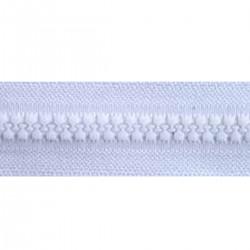 FERMETURE MAILLE MOULEE 9mm BLANCHE /mètre