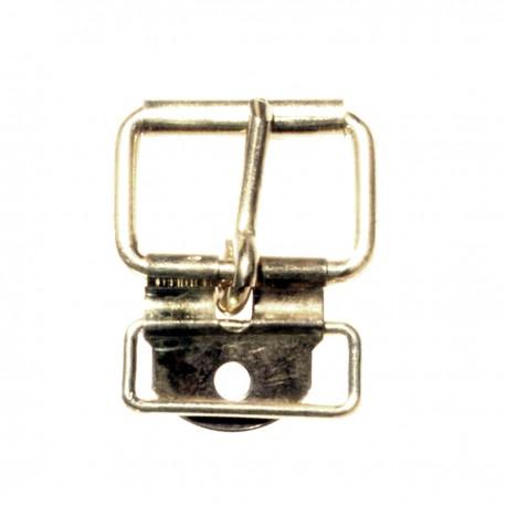 D69 BOUCLE CHAPE ET PASSANT NICKELE 14 mm