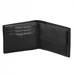 B00743 P-monnaie rabat cuir bovin dbl textile pleine fleur tan.chrome