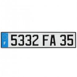 PLAQUE AUTO EURO BLANCHE110*520