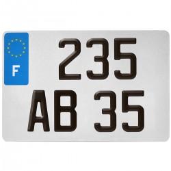 PLAQUE AUTO EURO BLANCHE 300*200