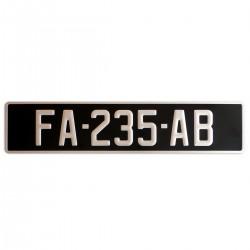 SIV PLAQUE AUTO NOIR/ALU 520*110 ou 300*200