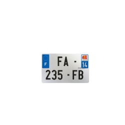 PLAQUE MOTO EVOTION 210x130 DEPT 14