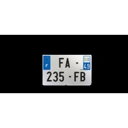 PLAQUE MOTO EVOTION 210x130 DEPT 49
