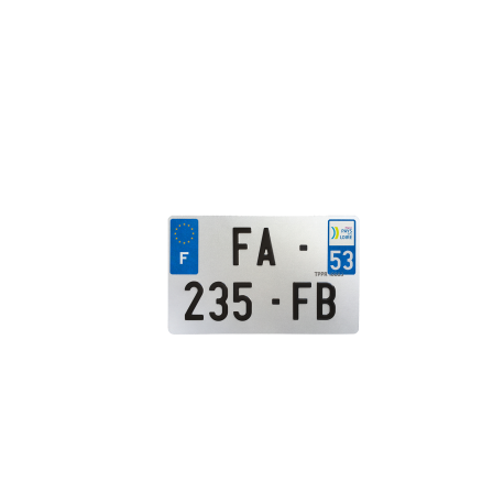 PLAQUE MOTO EVOTION 210x130 DEPT 53