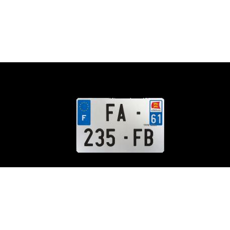 PLAQUE MOTO EVOTION 210x130 DEPT 61