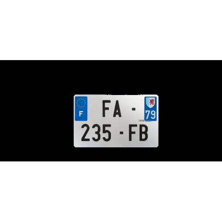 PLAQUE MOTO EVOTION 210x130 DEPT 79
