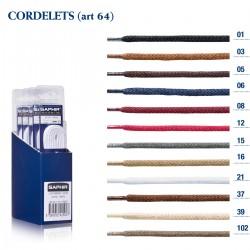 LACETS SAPHIR CORDELET 60 / BOITE DE 6 p