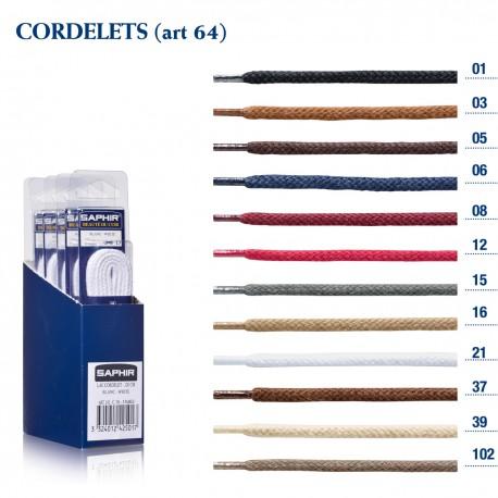 LACETS SAPHIR CORDELET 75 / BOITE DE 6 p