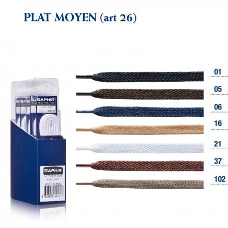 LACETS SAPHIR PLAT MOYEN 60 / BOITE DE 6 p