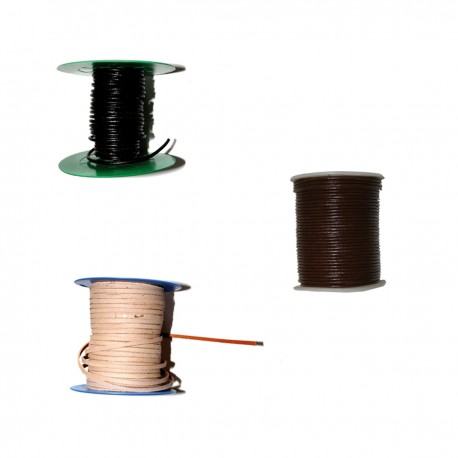 LACET CUIR ROND D 3 mm / metre