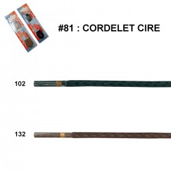 LACET BLISTER R.P. CIRE ROND FIN 75 CM art 81 /paire
