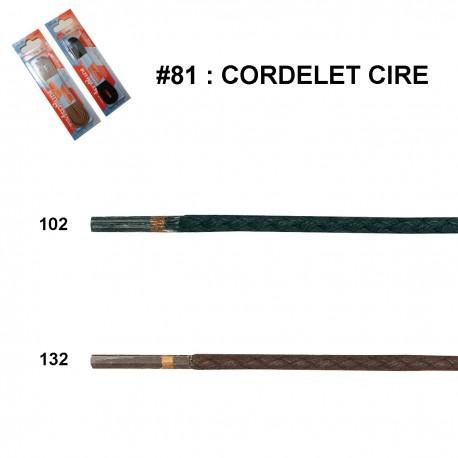 LACET BLISTER R.P. CIRE CORDELET 75 CM art 81