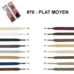 LACET BLISTER R.P.PLAT MOYEN 60 CM /paire