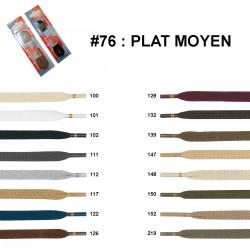 LACET BLISTER R.P.PLAT MOYEN 75 CM /paire
