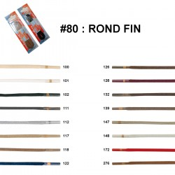 LACET BLISTER R.P. ROND FIN 90 CM /paire