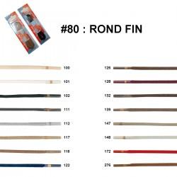 LACET BLISTER R.P. ROND FIN 120 CM /paire