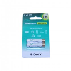 PILES LR03 (AAA) RECHARGEABLES 900 Mah (2 piles)