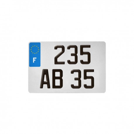 PLAQUE AUTO REFLECTO BLANCHE 275*200