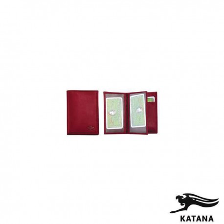 553096 PORTE CARTE VERTICVAL 1 volet 9x12 Cuir bovin