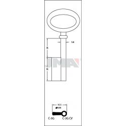C-3GCV CLE DE STYLE MODERNE